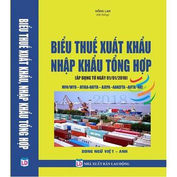 Biểu thuế xuất nhập khẩu song ngữ 2018 Việt Anh biểu thuế tiếng Anh
