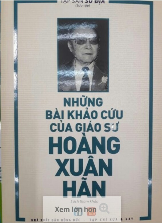 Những bài khảo cứu của giáo sư Hoàng  Xuân Hãn