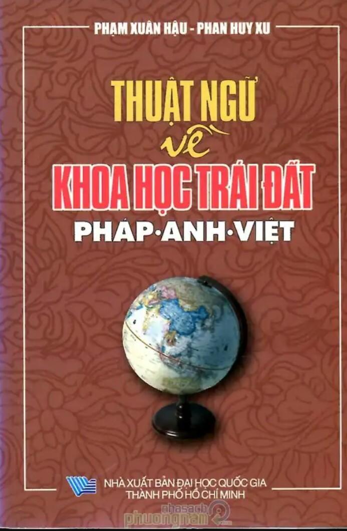 Từ điển thuật ngữ về khoa học trái đất Pháp Anh Việt