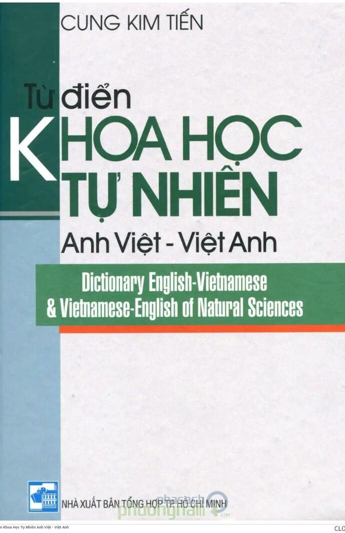 Từ điển khoa học tự nhiên