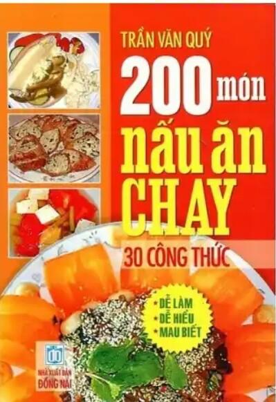 200 món ăn chay và  30 công thức